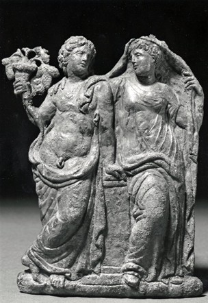 Ariadne with the god Dionysus, ca. 325-300 B.C.E.