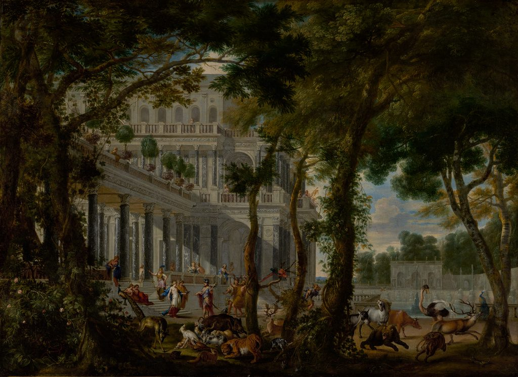 Ulysses at the Palace of Circe, 1667, by Wilhelm Schubert van Ehrenberg, animals by Carl Borromäus Andreas Ruthart, J. Paul Getty Museum.