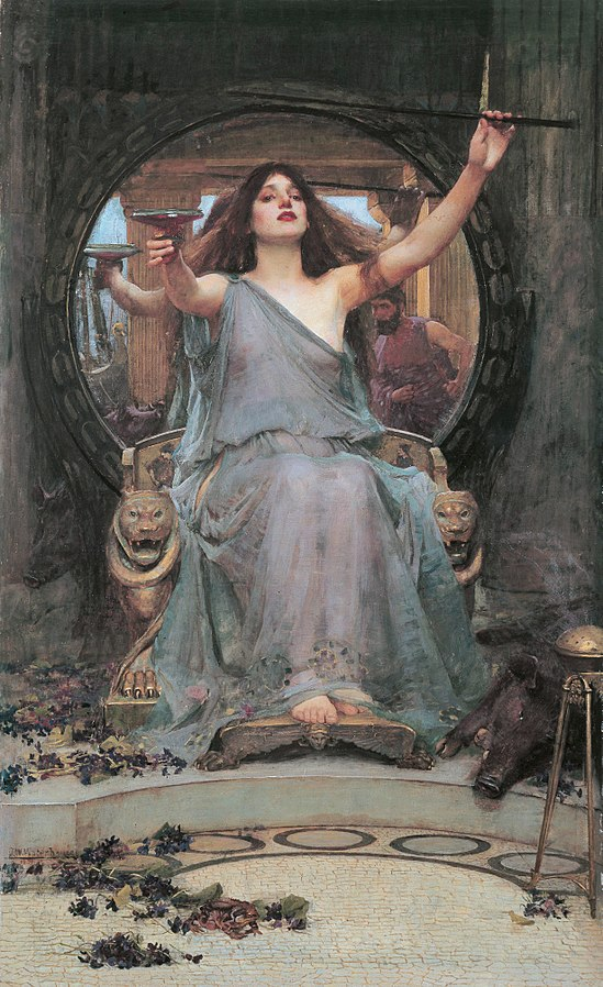 Circe Offering the Cup to Odysseus, John Waterhouse, 1891.