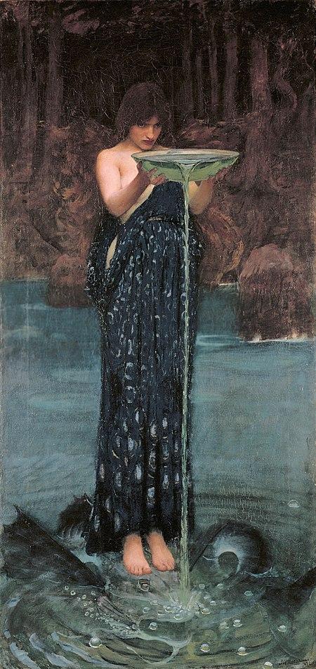 Circe Invidiosa (Jealous Circe), John Waterhouse, 1892.