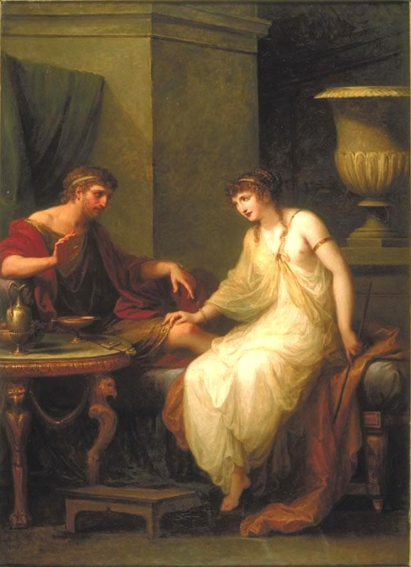 Ulysses and Circe, Angelica Kauffmann, 1786.