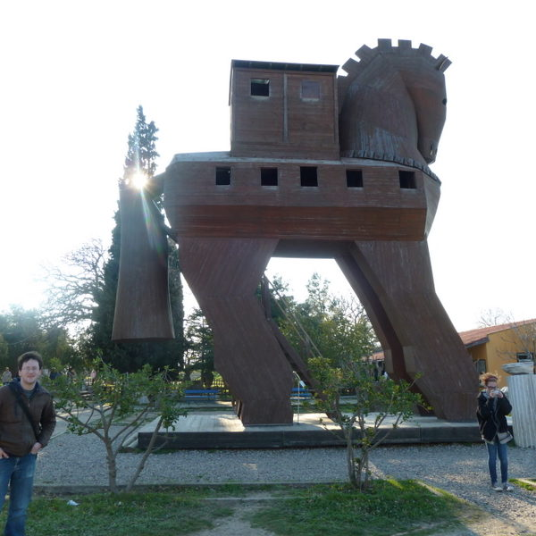 "This monument to the Trojan Horse was built by the tourism board of Turkey, and is intended to be more fun than historical.  As one of my middle-school students pointed out: ""The Trojans would never have fallen for that."""